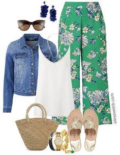 Plus Size Floral Culottes Outfit - Plus Size Summer Outfit - Plus Size Fashion for Women - alexawebb.com #alexawebb