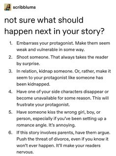 Ways to keep things interesting for readers when you have hit a block...