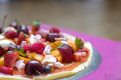 Pizza aux fruits pâte pancake !