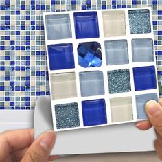Marble Matte Mosaic PVC Stickers Waterproof Self Adhesive Wall Sticker Bathroom Kitchen DIY Tile Stickers Mosaic Tile Stickers, Tile Decals, Glass Mosaic Tiles, Peel And Stick Tile, Stick On Tiles, Floor Stickers, Wall Stickers Murals, Home Decoration Brands, Fashion Retail Interior