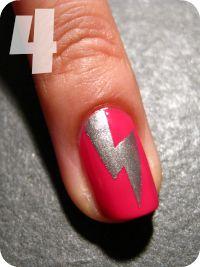 Nailside: Tutorial: Vertical Lightning Bolt