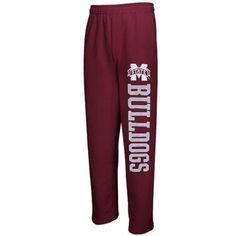 Mississippi State Bulldogs Pantalon Fleece Pants – Maroon