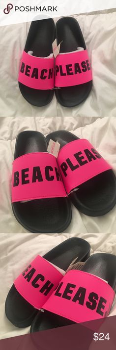 ‼️NWT‼️ PINK Sandles Selling these brand new pink sandles. Never worn.   DON'T TRADE OPEN TO OFFERS ALWAYS A SALE (I like to change it up)  LOVE SHARING OTHER PEOPLES ITEMS  FAST SHIPPER  SAVE MONEY N BUNDLE  ONLY SHIP ON WEEKDAYS. (I usually work every weekend. The post offices are closed when I get off) if you have any questions, feel free to ask PINK Victoria's Secret Shoes Sandals
