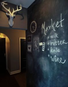 DIY Magnetic Chalkboard Wall / Painting tips- {Apple a Day Beauty}
