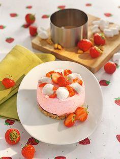 Erdbeertörtchen mit Butterkeksboden