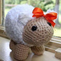 Sheep Lamb Amigurumi Crocheted Toy Farm Animal by ViridianMuse, $26.99