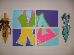 Kappa Delta, except mine would say ZTA:) Kappa Delta Sorority, Gamma Phi, Alpha Phi, Sigma Tau, Phi Mu, Sorority Life, Delta Zeta Crafts, Sorority Crafts, Summer Camp Art