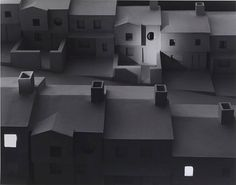 James Casebere (American, born Subdivision with Spotlight, Gelatin silver print, 16 x Collection of the artist. James Casebere, Cindy Sherman Art, Paul Outerbridge, Dr Marcus, Edward Steichen, Robert Mapplethorpe, Southern Plantations, Desert Homes, Black And White Prints
