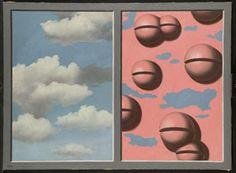 Cascabeles rosas, cielos en jirones - Magritte - Museo Reina Sofía - Madrid.