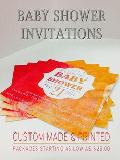 Baby Shower Invites! Baby Shower Invitations, Invites, Print Packaging, Tableware, Prints, Dinnerware, Dishes, Invitations Baby Showers, Place Settings