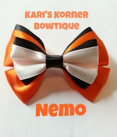 Disney Inspired Bow - Nemo https://www.etsy.com/listing/186684599/disney-inspired-bow-nemo