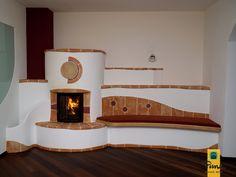 "Képtalálat a következőre: ""kachelofen"" Fireplace Design, Stove, Sweet Home, House Design, Warm, Cob Houses, Building, Fireplaces, Craft"