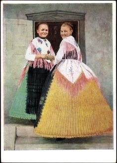 Germany, Swabia, early 1900s. Traditional dress.
