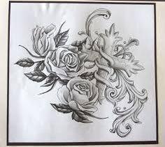 Risultati immagini per disegni tattoo rose con gambo intrecciato e spine