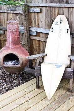 surfboard patio chair