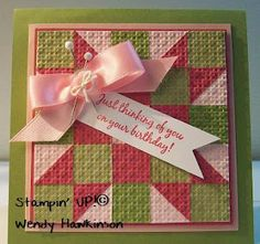 Got Rubber...Will Stamp!: Two Shades of PINK- Quilted Card