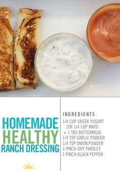 My favorite healthy ranch dipping sauce!