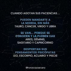 Menciona!! SIGUEME: @horoscopoarcano - #poder #acuario #escorpio #leo #capricornio #sagitario #geminis #aries #conocen #libra #virgo #cancer #tauro #mierda #piscis #LosardelBarco #FelizSabado #tuhoroscopo #horoscoponegro #elhoroscopodice Aquarius, Libra, Gemini Life, Memes, More Than Words, 3, Zodiac Signs, Cancer, Life Quotes