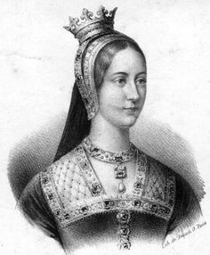 """Mary 'Rose' Tudor as Queen Consort of France. She was the younger sister of King Henry VIII. (In the HBO series 'The Tudors' they switched her name with that of her sister Margaret because there were """"too many Marys."""" (2?) However - there were countless characters named Thomas which seemed not to be a problem.)"""