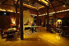 Traditional javanese touch villa room.  Art & Interior Design.