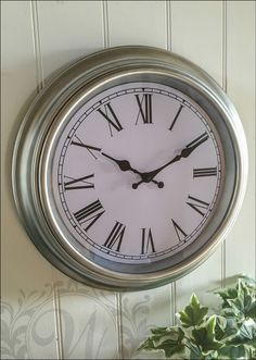 For Guest Room - Round Silver Wall Clock French Vintage Industrial Rustic Roman Numeral Large 40 in Home, Furniture & DIY, Clocks, Wall Clocks | eBay