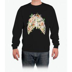 Floral Ribs Unicorn Long Sleeve T-Shirt