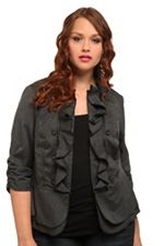 Ruffles on a military-style jacket? Mmk, then. $58.50