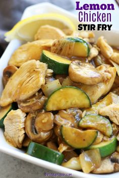 Chicken Stir Fry Lemon Chicken Stir Fry The post Lemon Chicken Stir Fry appeared first on Diet.Lemon Chicken Stir Fry The post Lemon Chicken Stir Fry appeared first on Diet. Best Chicken Recipes, Real Food Recipes, Cooking Recipes, Healthy Recipes, Fast Recipes, Chicken Zuchini Recipes, Healthy Food, Cheap Recipes, Cooking Bacon