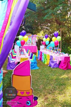 Partyscape from Trendy Shopkins Birthday Party at Kara's Party Ideas. See the whole party and more at karaspartyideas.com!