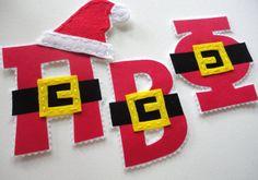 Pi Beta Phi Santa Greek Letters by alphabulous on Etsy, $16.00