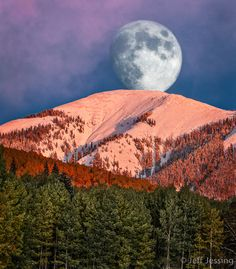 ~~Lunar La Plata ~ moon setting over Madden Peak, La Plata Mountain Range, Southwest Colorado by Jeff Jessing~~