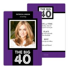 Big and Bold Birthday Party Invitation from Focus in Pix