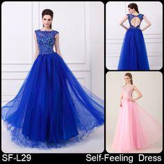 Bola de la tapa vestido de gasa con cuentas azul real vestido de fiesta 2014 regreso a casa de cristal en de en Aliexpress.com