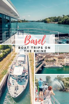 Experience Basel on a boat trip on the Rhine. Travel Alone, Basel, Old Town, Townhouse, Travelling, Cathedral, Highlights, Tower, Boat