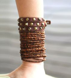 Natural Brown quality Wood round beads bracelet  16 by Shovava, $32.00