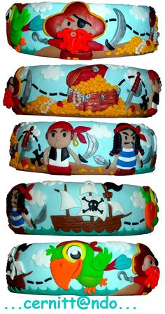 Pirates are coming polymer clay bangle by ~cernittando on deviantART
