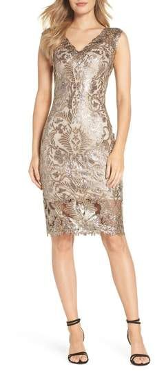 Tadashi Shoji Sequin   Lace Sheath Dress. Find this Pin and more on Evening  Style. ... 1379526f01df