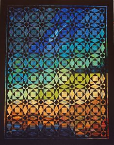 The Comet's Gift - A Storm at Sea quilt inspired by a meteor falling in a night sky - by Marci Gore, Lily Street Quilts