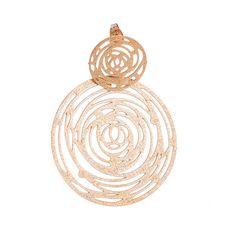 Σκουλαρίκια Olvios κύκλοι λουλούδι ροζ επιχρυσωμένο ατσάλι Jewels, Jewerly, Gemstones, Fine Jewelry, Gem, Jewelery, Jewelry, Jewel