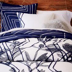 Roar + Rabbit Embroidered Floral Duvet Cover + Shams | west elm