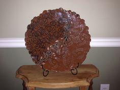 Large Handbuilt Ball Platter