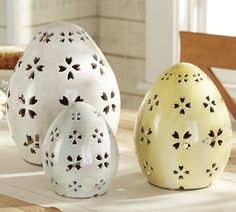 Pierced Ceramic Eggs | Pottery Barn--ahh all of these are so so cute