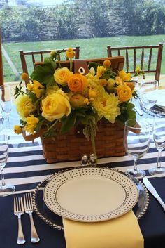 Yacht Club Navy & Yellow Preppy Wedding