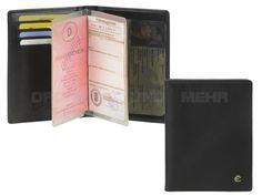 Esquire HARRY 49 - Leder Ausweisetui Ausweismappe mit RFID Schutz - schwarz