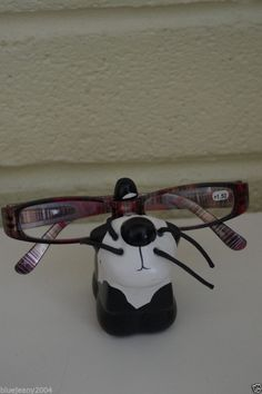 Spectacle Glasses Stand Holder Adult Children's Cat Small Black & White