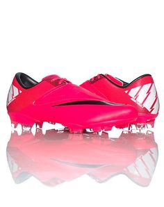 Nike Mercurial Victory II FG Soccer Cleat Neon Red.