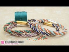 Beadaholique has supplied jewelers since Watch this video - How to Make the Spiral 12 Warp Kumihimo Bracelet Kits by Beadaholique Jewelry Kits, Jewelry Making Beads, Bracelet Making, Jewellery Making, Beaded Earrings, Beaded Jewelry, Beaded Bracelets, Seed Bead Patterns, Bracelet Tutorial