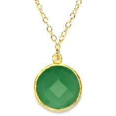 Gold Plated Sterling Silver Round Green Chalcedony Quartz Necklace (71 CAD) ❤ liked on Polyvore featuring jewelry, necklaces, chalcedony necklace, sterling silver jewellery, green quartz jewelry, gold plated necklace and quartz jewelry