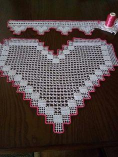 Örnek Easter Crochet Patterns, Crochet Stitches Patterns, Doily Patterns, Baby Knitting Patterns, Stitch Patterns, Filet Crochet, Crochet Shawl, Crochet Lace, Crochet Toddler Dress
