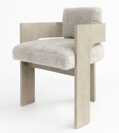 C Back chair angled and in sand + shearling. Fit to sit for long conversations New Interior Design, Interior Design Inspiration, Home Decor Inspiration, Home Decor Furniture, Cool Furniture, Furniture Design, Interiores Design, Chair Design, Decoration